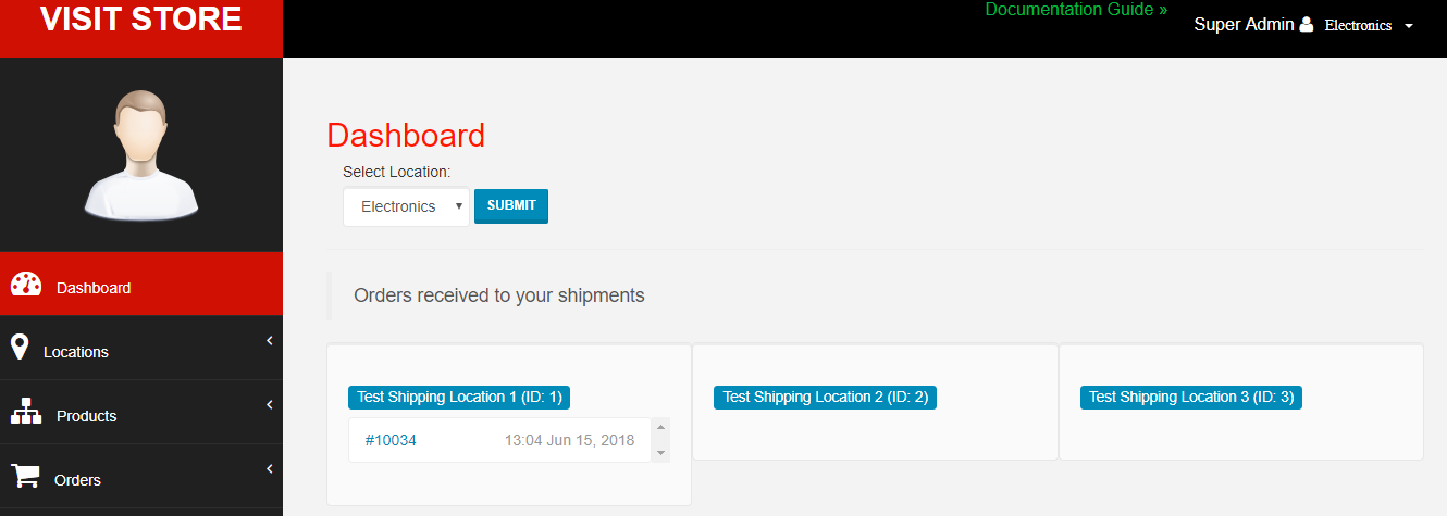 Orders to Shipments - Webcart