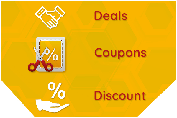 Deals, Coupons and Discounts